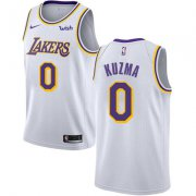 Wholesale Cheap Nike Los Angeles Lakers #0 Kyle Kuzma White NBA Swingman Association Edition Jersey