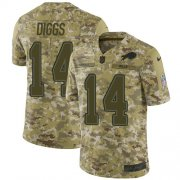 Wholesale Cheap Nike Bills #14 Stefon Diggs Camo Youth Stitched NFL Limited 2018 Salute To Service Jersey