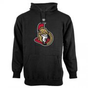 Wholesale Cheap Ottawa Senators Old Time Hockey Big Logo with Crest Pullover Hoodie Black