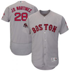 Wholesale Cheap Red Sox #28 J. D. Martinez Grey Flexbase Authentic Collection 2018 World Series Stitched MLB Jersey