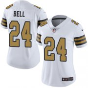 Wholesale Cheap Nike Saints #24 Vonn Bell White Women's Stitched NFL Limited Rush Jersey