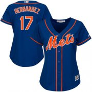 Wholesale Cheap Mets #17 Keith Hernandez Blue Alternate Women's Stitched MLB Jersey