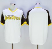 Wholesale Cheap Padres Blank White 1978 Turn Back The Clock Stitched MLB Jersey