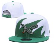 Wholesale Cheap NFL Philadelphia Eagles Fresh Logo Green Adjustable Hats