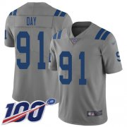 Wholesale Cheap Nike Colts #91 Sheldon Day Gray Men's Stitched NFL Limited Inverted Legend 100th Season Jersey