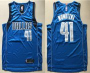 Wholesale Cheap Men's Dallas Mavericks #41 Dirk Nowitzki New Blue 2017-2018 Nike Swingman Wish Stitched NBA Jersey