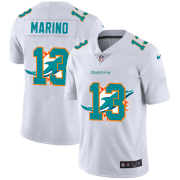 Wholesale Cheap Miami Dolphins #13 Dan Marino White Men's Nike Team Logo Dual Overlap Limited NFL Jersey