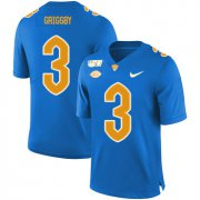 Wholesale Cheap Pittsburgh Panthers 3 Nicholas Grigsby Blue 150th Anniversary Patch Nike College Football Jersey