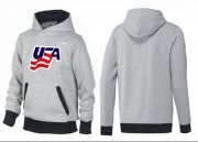 Wholesale Cheap Olympic Team USA Pullover Hoodie Grey/Black