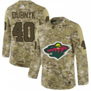 Wholesale Cheap Adidas Wild #40 Devan Dubnyk Camo Authentic Stitched NHL Jersey