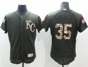 Wholesale Royals #35 Eric Hosmer Green Flexbase Authentic Collection Salute to Service Stitched Baseball Jersey