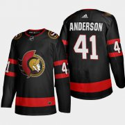 Cheap Ottawa Senators #41 Craig Anderson Men's Adidas 2020-21 Authentic Player Home Stitched NHL Jersey Black