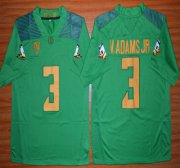 Wholesale Cheap Oregon Duck #3 Vernon Adams Jr Light Green College Football Nike Limited Jersey
