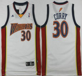 Wholesale Cheap Men\'s Golden State Warriors #30 Stephen Curry Rookie White Swingman Jersey