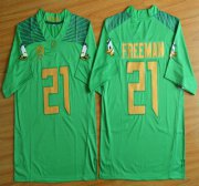 Wholesale Cheap Oregon Duck #21 Royce Freeman Light Green College Football Nike Limited Jersey