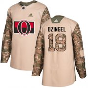 Wholesale Cheap Adidas Senators #18 Ryan Dzingel Camo Authentic 2017 Veterans Day Stitched Youth NHL Jersey