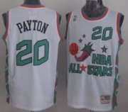 Wholesale Cheap NBA 1996 All-Star #20 Gary Payton White Swingman Throwback Jersey
