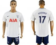 Wholesale Cheap Tottenham Hotspur #17 Sissoko White/Blue Soccer Club Jersey