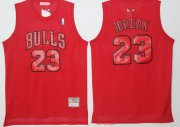 Wholesale Cheap Men's Chicago Bulls #23 Michael Jordan All Red Hardwood Classics Soul Swingman Throwback Jersey