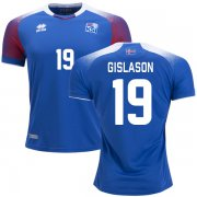Wholesale Cheap Iceland #19 Gislason Home Soccer Country Jersey
