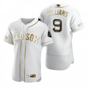 Wholesale Cheap Boston Red Sox #9 Ted Williams White Nike Men's Authentic Golden Edition MLB Jersey