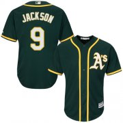 Wholesale Cheap Athletics #9 Reggie Jackson Green Cool Base Stitched Youth MLB Jersey