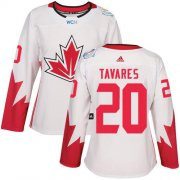 Wholesale Cheap Team Canada #20 John Tavares White 2016 World Cup Women's Stitched NHL Jersey