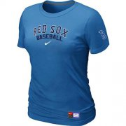 Wholesale Cheap Women's Boston Red Sox Nike Short Sleeve Practice MLB T-Shirt Indigo Blue