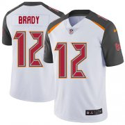 Wholesale Cheap Nike Buccaneers #12 Tom Brady White Men's Stitched NFL Vapor Untouchable Limited Jersey