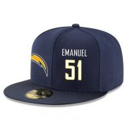 Wholesale Cheap San Diego Chargers #51 Kyle Emanuel Snapback Cap NFL Player Navy Blue with White Number Stitched Hat