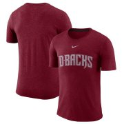 Wholesale Cheap Arizona Diamondbacks Nike Wordmark Tri-Blend T-Shirt Red