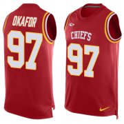 Wholesale Cheap Nike Chiefs #97 Alex Okafor Red Team Color Men's Stitched NFL Limited Tank Top Jersey