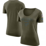 Wholesale Cheap Women's Detroit Lions Nike Olive Salute to Service Legend Scoop Neck T-Shirt
