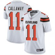 Wholesale Cheap Nike Browns #11 Antonio Callaway White Men's Stitched NFL Vapor Untouchable Limited Jersey