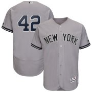 Wholesale Cheap New York Yankees #42 Mariano Rivera Majestic 2019 Hall of Fame Authentic Collection Flex Base Player Jersey Gray