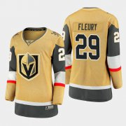 Cheap Vegas Golden Knights #29 Marc-Andre Fleury Women 2020-21 Player Alternate Stitched NHL Jersey Gold