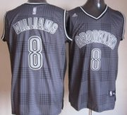 Wholesale Cheap Brooklyn Nets #8 Deron Williams Black Rhythm Fashion Jersey