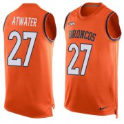 Wholesale Cheap Nike Broncos #27 Steve Atwater Orange Team Color Men's Stitched NFL Limited Tank Top Jersey