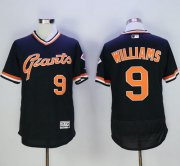 Wholesale Giants #9 Matt Williams Black Flexbase Authentic Collection Cooperstown Stitched Baseball Jersey