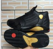 Wholesale Cheap Air Jordan 14 Retro Shoes Black/gold-red
