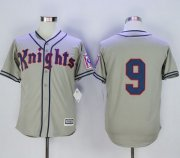 Wholesale Cheap New York Knights The Natural #9 Roy Hobbs Grey Movie Stitched MLB Jersey