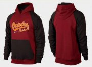 Wholesale Cheap Baltimore Orioles Pullover Hoodie Burgundy Red & Black