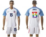 Wholesale Cheap USA #13 Jones White Rainbow Soccer Country Jersey