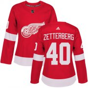 Wholesale Cheap Adidas Red Wings #40 Henrik Zetterberg Red Home Authentic Women's Stitched NHL Jersey