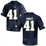 Wholesale Cheap Notre Dame Fighting Irish 41 Matthias Farley Navy College Football Jersey