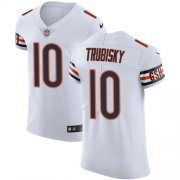 Wholesale Cheap Nike Bears #10 Mitchell Trubisky White Men's Stitched NFL Vapor Untouchable Elite Jersey