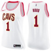 Wholesale Cheap Nike Cleveland Cavaliers #1 Rodney Hood White Pink Women's NBA Swingman Fashion Jersey