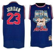 Wholesale Cheap NBA 1992 All-Star #23 Michael Jordan Blue Swingman Throwback Jersey