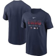 Wholesale Cheap Men's Minnesota Twins Nike Navy Authentic Collection Team Performance T-Shirt