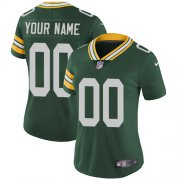 Wholesale Cheap Nike Green Bay Packers Customized Green Team Color Stitched Vapor Untouchable Limited Women's NFL Jersey